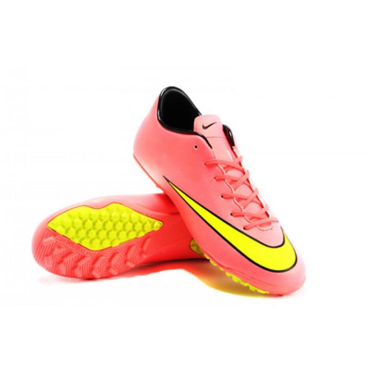 Сороконожки Nike mercurial, розовый с желтым